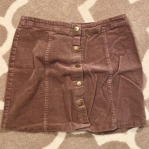 Charlotte Russe Corduroy Skirt